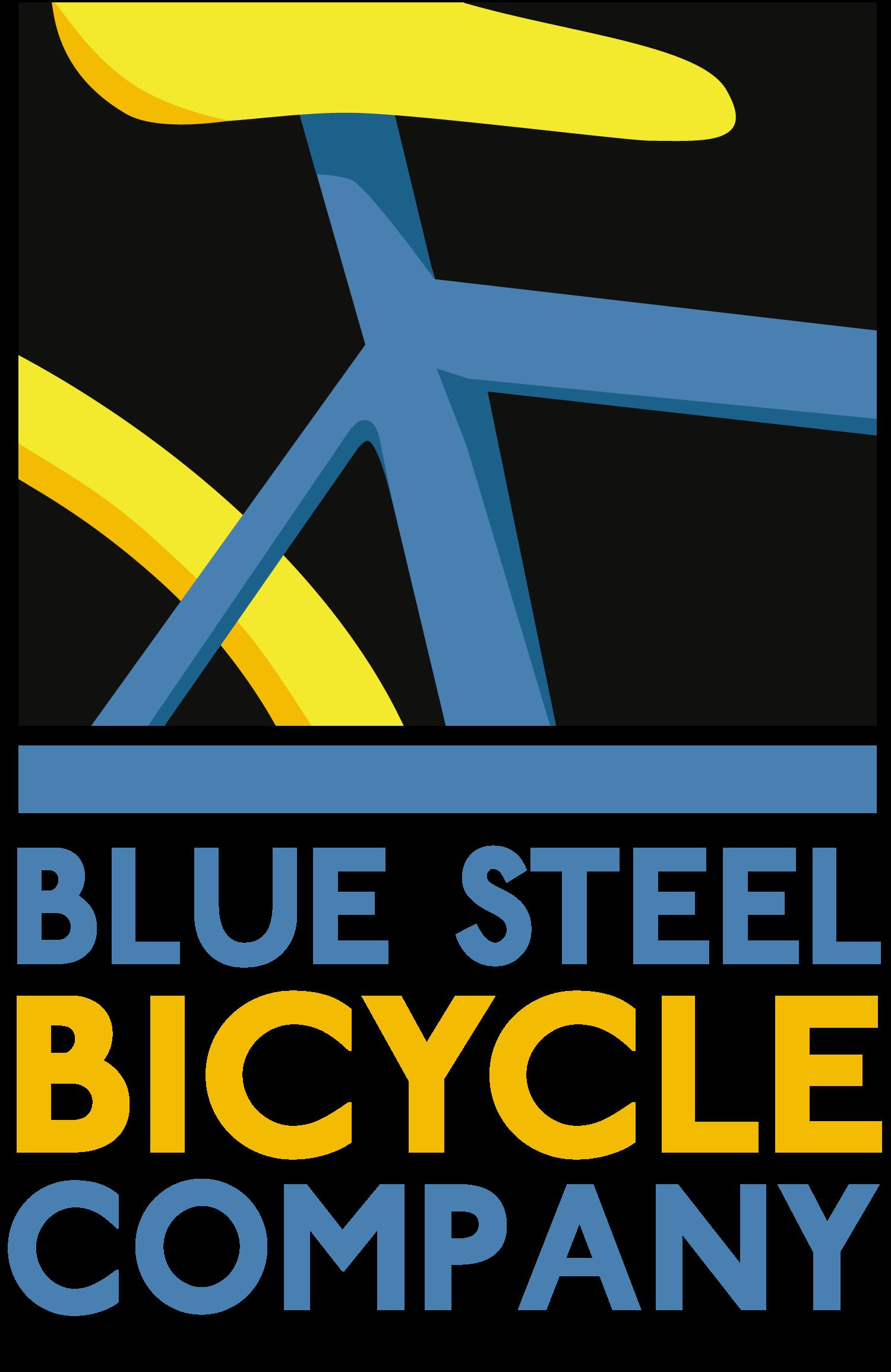 blue steel bicycle company logo