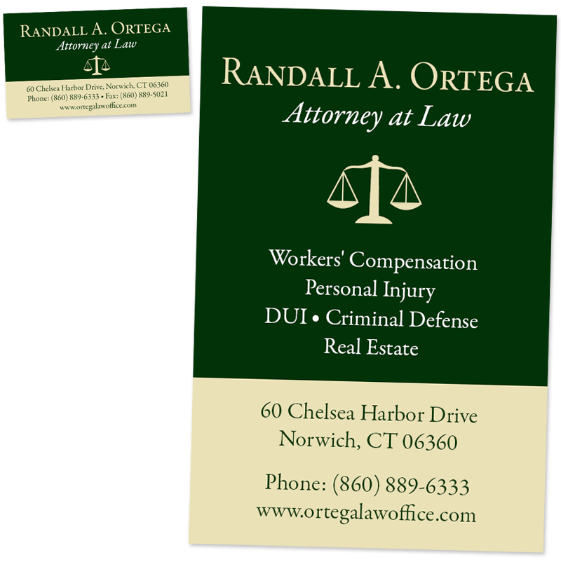 Attorney randall a ortega website and business cards brown bear attorney ortega business card and poster colourmoves
