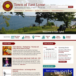 Town of East Lyme website design