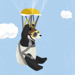 Parachuting Pandas