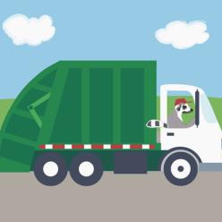 Truck nursery art