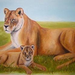 LionsAcrylic on Wall (mural)