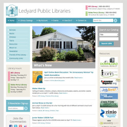 Ledyard Public Libraries website