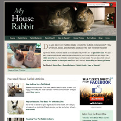 My House Rabbit website