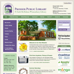 Prosser Public Library website
