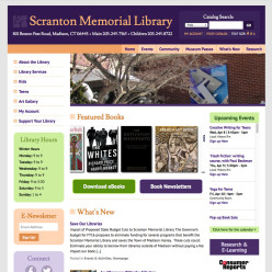 Scranton Memorial Library website