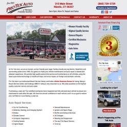 Pro Tek Auto website
